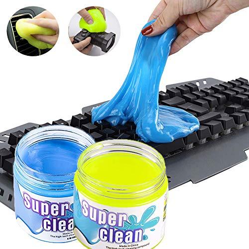 Keyboard Cleaner Universele Cleaning Gel Stofzuiger Verwijder snel vlekken voor PC Tablet Laptop Keyboards, Auto ventilatieopeningen, Camera's en andere Plastic Robuuste Oppervlak Geel/160g