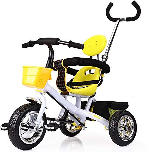 YumEIGE driewieler voor kinderen 1-5 jaar verjaardag driewieler voor baby's met duwstang, belastingsgewicht 50 kg verkrijgbaar Regulable