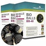 Bio Balls - Aquarium Fish Tank & Pond Filter Media (400 - (10 Boxes of 40))
