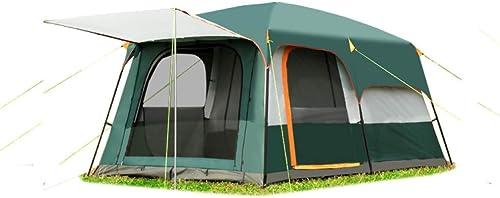 MDZH Tente 2 Salles De Séjour en Plein Air à Double Couche De 5 à 8 Personnes Et Tente De Camping Familiale 1Hall dans Une Tente De Grande Surface De Grande Qualité