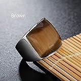 Anillo de acero de titanio, anillo de compromiso para hombres y mujeres, nueve colores, anillo punk, 123, marrón, 7