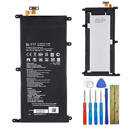 Li-Polymer Replacement Battery BL-T17 Compatible with LG G Pad III 8.0 G Pad X 8.3 V520 VK815 with Tool