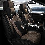 Tuhu-auto Juego de fundas universales para asientos de coche, accesorios para sedán, camioneta, SUV, color marrón