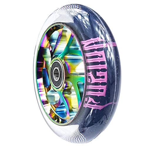 Fuzion Flight Stunt-Scooter Rolle 110mm (Rainbow Neochrome/Pu Transparent)