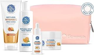 The Moms Co. Natural Brightening Advanced Vitamin C Complete Face Care Routine Kit l l Face Wash I Toner I Serum I Cream l...