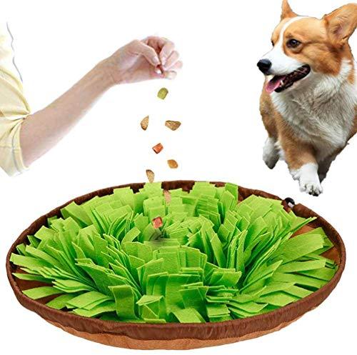 Voarge Hund schnüffelteppich intelligenzspielzeug, Schnüffelteppich Hund Dog Puzzle Toys Hund Snuffle Mat für Hunde Pet Sniffing Pad,Intelligenz Hundespielzeug Schnüffelspielzeug