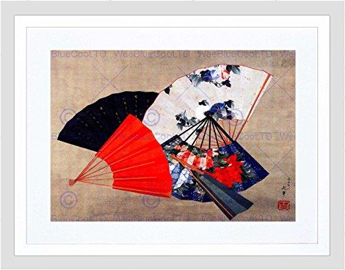 Wee Blue Coo Oosterse ventilator kleur Cool beeld ingelijst muur Art Print