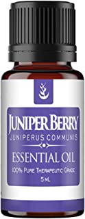 Pure Juniper Berry Essential Oil (5 ml), Convenient Dropper Cap Bottle, Promotes Healthy Kidney & Urinary Tract Function, ...