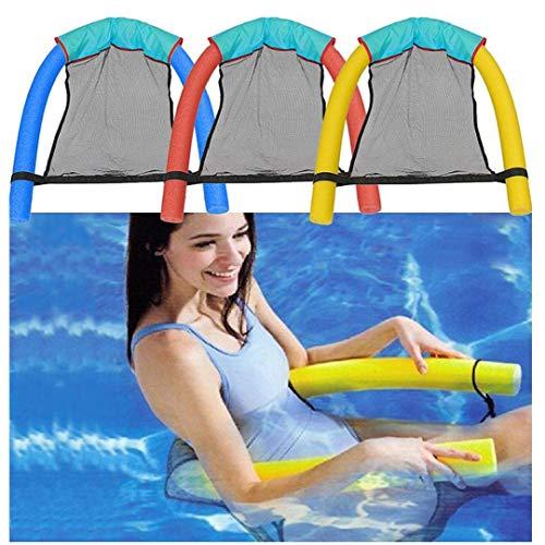 Berrywho Inflable Silla de la Piscina, Silla de la Piscina Flotador Inflable Salón para Adultos Juguetes para el Agua flotadores de Accesorios Ocio Piscina Noodle 3pcs de Las sillas
