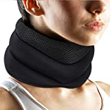 Neck Brace, Neck Support Foam Cervical Collar,Breathable Sponge Cervical Collar,Adjustable Neck Support Brace Relieves Pain & Spine Pressure, Cervical Collar Brace Black
