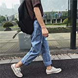 Jeans para Hombre Summer Men's Color Matching Jeans Hip-Hop Youth Hong Kong...