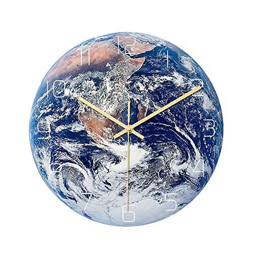 TTbaoz Diámetro 30Cm Reloj silencioso Que Funciona con baterías Reloj con Forma antártica Dormitorio Decoración de la Sala de Estar Sin batería