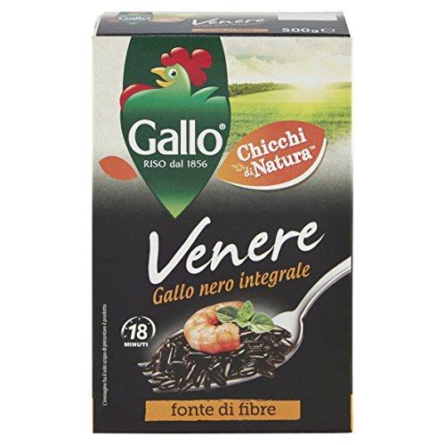 Gallo Venere Negro Completo grano Arroz 500gramos