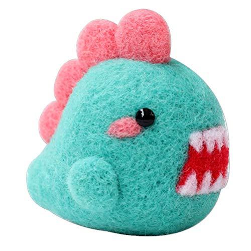 HEALLILY 1 Juego de Kit de Fieltro de Aguja Animal Hecho a Mano Monster Doll Aguja de Fieltro de Lana Kit de Artesanía sin Terminar con Instrucciones