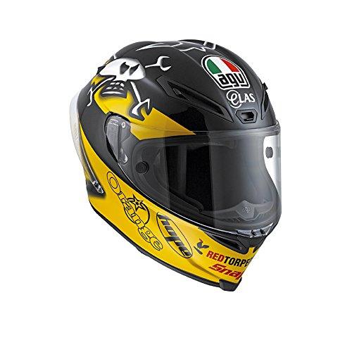 AGV Casco Helmets integrales Corsa E2205 micrófono W, Multicolor (Guy Martin), talla XL
