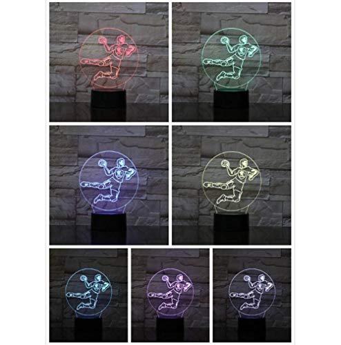 new Halloween Lichter Handball Player3D LED Nachtlicht USB gece lambasi Kinder Kinder Geschenk Baby Nachtlicht Sport Schreibtischlampe Nachttischlampe veilleuse