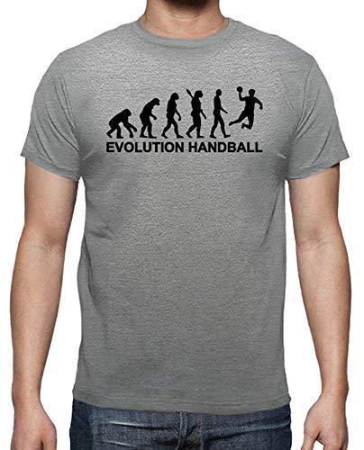 latostadora - Camiseta Evolución de Balonmano para Hombre Gris vigoré L