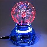 Kicode プラズマボール球球雷ライト[タッチセンシティブ] 3インチの星雲球地球儀玩具USBまたはバッテリー駆動