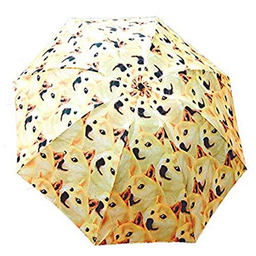Regenschirm, Hunderassenschirm, lustiger Shiba Inu Hund Faltbarer Regenschirm, winddicht schwebender Reiseschirm