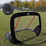 "WISHOME 47.3"" Folding Pop-Up Goal Collapsible Children Soccer Goals..."