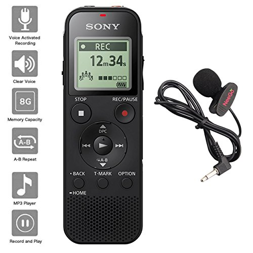 Sony Voice Recorder ICD-PX Series with Built-in Mic and USB, microSD Card Slot...