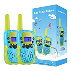 Perfect Gift for Children: Gift for 3-12 year old boys, teen girl gifts, walkie talkies for kids teen boy gifts birthday. Great for both indoor and outdoor activities such as going shopping, spring outing and summer camping. Key Lock Function: The ki...