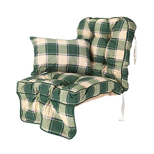 Alfresia Replacement Classic Garden Swing Seat Cushion - Choice of Colours (Green Check)