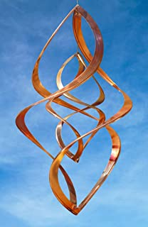 Handcrafted Double Infinity Copper Wind Sculpture by American Artist Neil Sater, 20 in