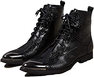 Men Fashion Boots Leather Fall,Winter British Boots Booties Ankle Boots Black,Party & Evening,Combat Boots