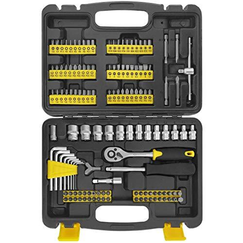 WZG Werkzeug - Juego de herramientas para el hogar (130 piezas)
