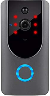 Wi-Fi Video Boorbell Camera، مع كاشف الحركة، كاميرا أمنية مع حديث ثنائي الاتجاه، زاوية واسعة، رؤية ليلية، إشعار دفع، تخزين...