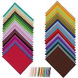Coolty 40 Farben Filz Stoff Bastelfilz Filz Blätter für