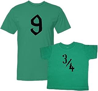 We Match! Platform 9 & 3/4 Matching Adult T-Shirt & Child T-Shirt Set