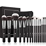 DUcare Make Up Pinsel Set 15 Stücke mit Kosmetiktasche Professionelle Schminkpinsel Set Premium Synthetische Make-Up Pinsel Kits