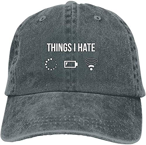 EJWERR Things I Hate Tshirt Programmer Gamer Fun Baseball-Cap Twill Adjustable Dad-Hat