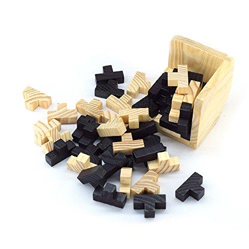 DOREKIN L'intelligenza di Legno Gioco 3D Puzzle di Legno Rompicapo Magico Tetris Cube 54 pc