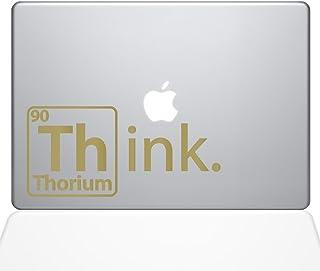 "The Decal Guru Think Thorium Macbook Decal Vinyl Sticker  - 15"" Macbook Pro (2016 & newer) - Gold (1254-MAC-15X-G)"