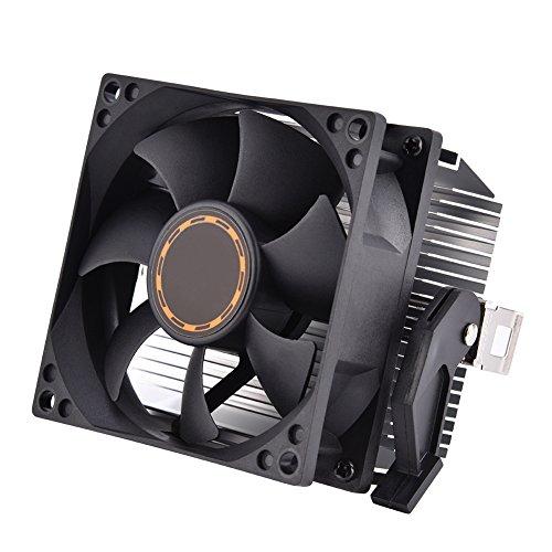 KUIDAMOS Ventilador de refrigeración de CPU, disipador de Calor, Flujo de Aire Negro de 3 Pines para procesador K8 Series 754939, 940, Athlon 64 5200