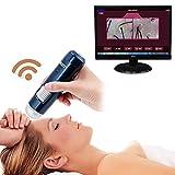 5-200X inalámbrica Wifi de la piel + USB Detector de pelo del cuero cabelludo microscopio digital de la piel de la cámara del analizador 200MP