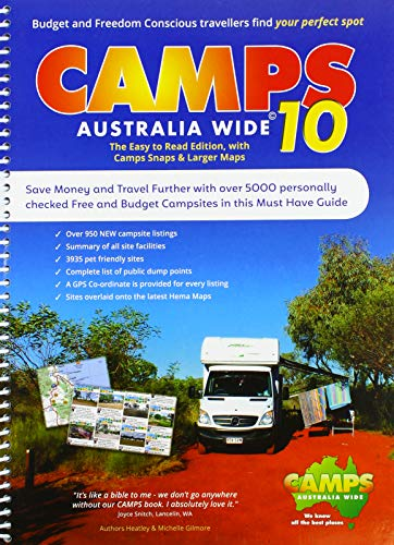 Camps Australia Wide 10 B4 incl. camps snaps: Campingführer Australien mit Fotos