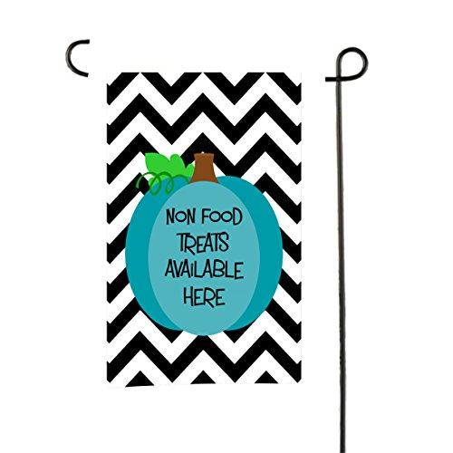 Tin Tree Geschenken Voedsel Allergie Bewustzijn Tuin Vlag Blauwe Pompoen Zwarte Chevron