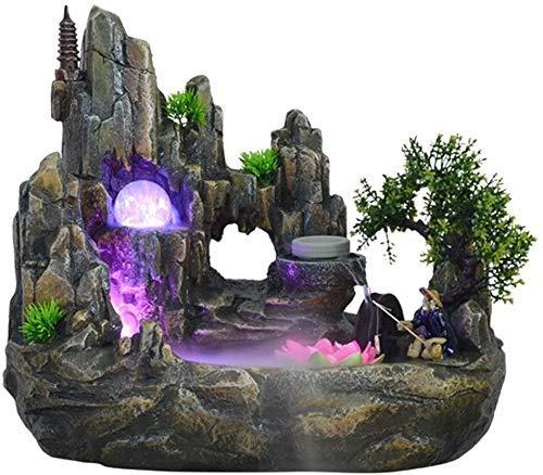 Wykwintny blat fontanny dekoracja nawilżacz biurko dekoracja powierzchni skalista woda fontanna do wnętrz krajobraz bonsai do biura stołowego 1118 (rozmiar: mały)