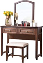 Table American Solid Wood Dressing Table, Postmodern Minimalist Dressing Table, Multifunctional Dressing Cabinet, Dressing...