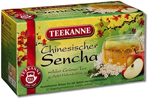 TEEKANNE groene thee Chinese Sencha, zak gebuffeerd, 20 zakjes à 1,75 g, je ontvangt 1 verpakking