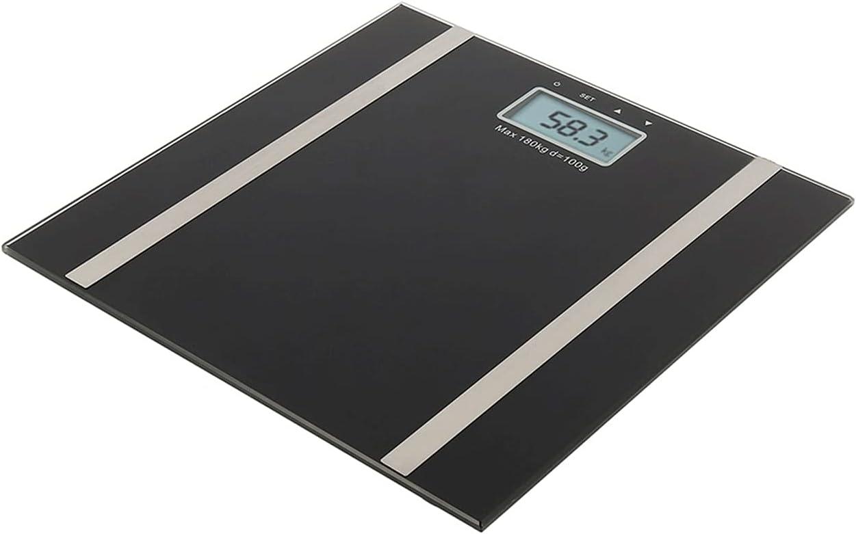 Wangchngqingc Balanza Peso Corporal, Bluetooth Corporal Escala de Grasa electrónica Inteligente BMI Analizador de composición Baño Bath Black Scales 2021 Precisión