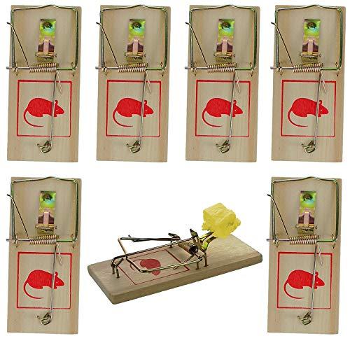 My-goodbuy24 Klassische Mausefalle aus Holz mit Metallbügel - wiederverwendbar - Schlagmausfalle - Schlagfalle - Mäusefalle - Effektive Schädlingsbekämpfung ohne Gift ! (6)