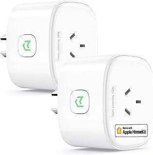 meross Smart Plug Works with HomeKit, 2 Piece