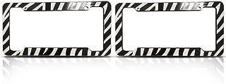 BDK Zebra License Plate Frames (Set of Two) Made of Plastic