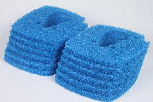 LTWHOME Blauer Rauher Filterschwamm Passend für Eheim Professional 3 Vorfiltermatte 2080/2180 (12 Stück)