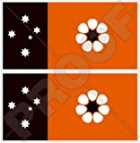 Vinyl-Aufkleber, Motiv: Nord-Territorie-Flagge, Darwin NT, Australien, 110 mm, 2 Stück
